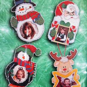 image is loading christmas ornaments counted cross stitch picture frame kit