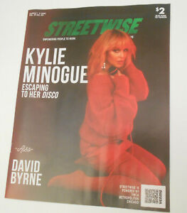 Kylie Minogue on the cover of rare magazine; David Byrne on other cover