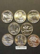 2014 S 2013 S 2012 Mint National Park Quarters Complete Set 8 Coins Volcano ATB