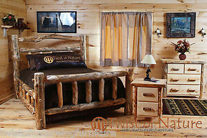 log bedroom set free shipping king size log bed log furniture log