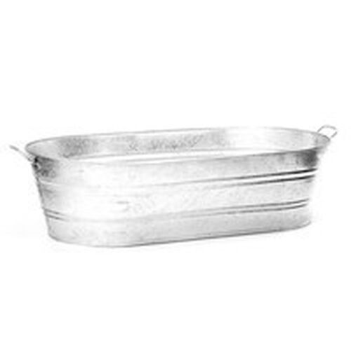 LOT OF (3) 7.2 GALLON HOT DIPPED GALVANIZED WATER OVAL WASH TUBS 6235568