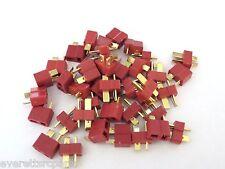 20 Sets T- Plug Male & Female Connectors Deans Style For RC LiPo Battery ESC