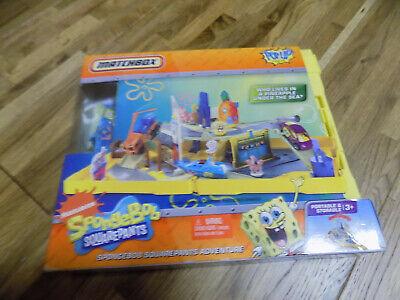 Details about  /Spongebob Squarepants Matchbox Pop Up Adventure Travel Folding Play Set