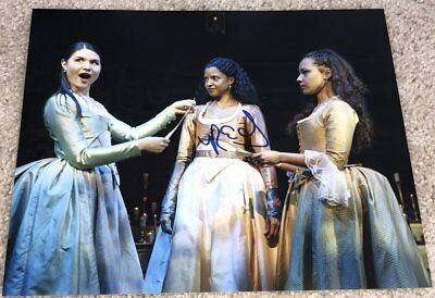 Selfless Renee Elise Goldsberry Signed Autograph Hamilton 8x10 Photo C W/exact Proof Warm And Windproof Autographs-original Entertainment Memorabilia