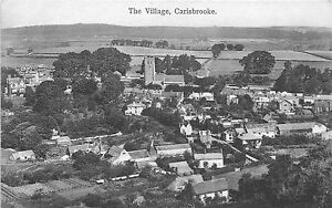 POSTCARD-ISLE-OF-WIGHT-CARISBROOKE-The-Village