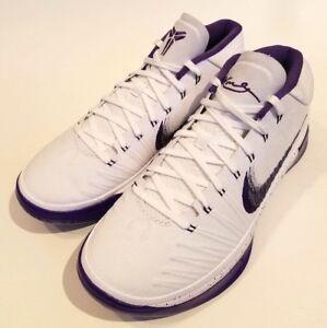 3481d4ebb852 Nike Kobe AD Basketball Shoes LA LAKERS NEW MENS White Court Purple ...