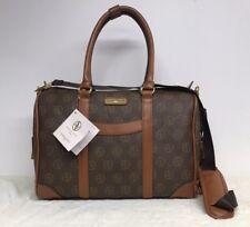 Adrienne Vittadini Signature Travel Duffle Bag Chocolate Gym Av Logo Retail 385