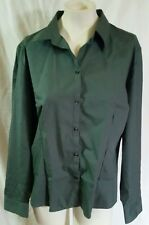 NWOT VAN HEUSEN FOR HER EASY CARE GREEN COTTON BLEND BUTTON DOWN SHIRT SZ 18/20