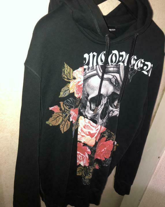 Alexander McQueen Authentic Skull Rose Hoodie Size M Used from Japan