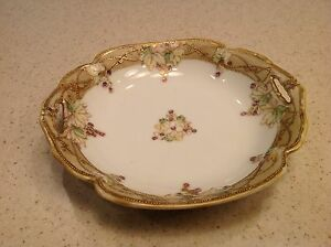 Hand painted Nippon Bowl with small handles