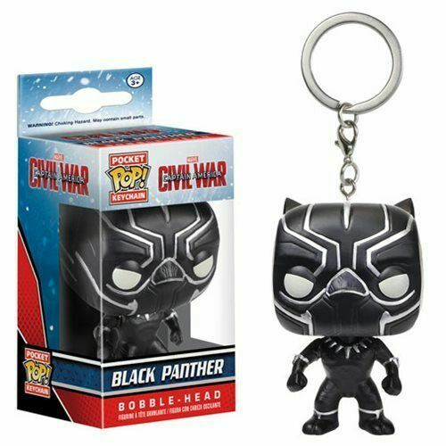 FUNKO Captain America Civil War Pocket Pop Key Chain Black Panther Figure NEW