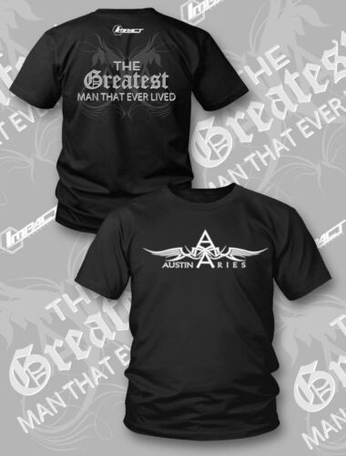 "Officiel tna impact wrestling austin aries /""tgmtel ailes/"" t-shirt"