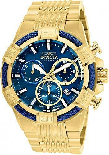 Invicta Mens Bolt Quartz Stainless Steel Casual Watch, color gold-Toned (Model