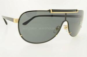 f2090020d5 VERSACE VE 2140 100287 1002 87 40MM GOLD FRAME GRAY LENSES BRAND NEW ...