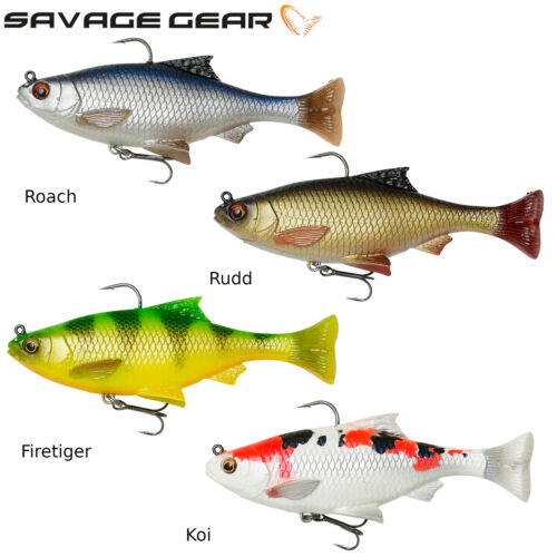 Savage Gear 3D Pulse Tail Roach 2 Gummifische zum Spinnfischen auf Hecht