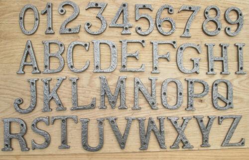 3/75mm fonte forgé antique fer maison porte alphabet lettres chiffres