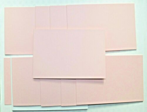10 Baby Pink Landscape Card Blanks 150 x 102mm /& White Envs NEW