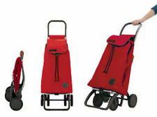 Rolser Pack 4 ruote trolley shopping ROSSO 48L capacità Bagagli Carrier Tote Bag