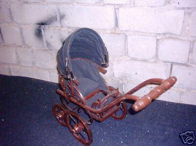 Puppenwagen Kutsche für Puppen  Höhe44cm
