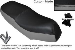 BLACK /& WHITE CUSTOM FITS HONDA ANF 125 INNOVA 03-12 DUAL LEATHER SEAT COVER