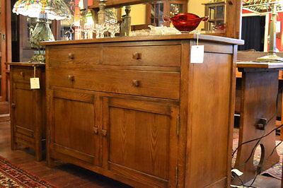 Mission Oak Sideboard with back mirror / Mission Oak Buffet