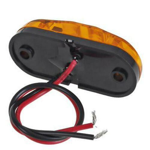 """Amber Red Clearance 2 Diode 2.6/"""" LED Oval Side Marker Lamp Light Truck Trailer"""