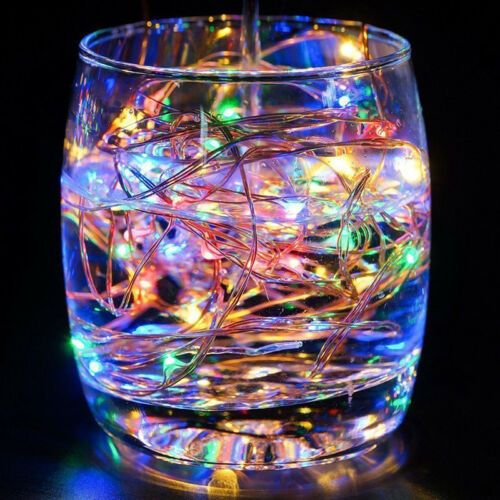 Battery Box LED String Lights 2M//5M//10M Silver Wire for Wedding Christmas Decor