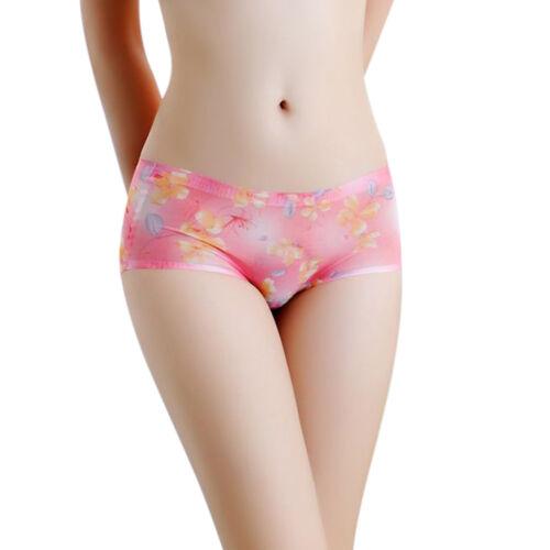 Women  Soft Printed Briefs Panties Thongs Boyshort Lingerie Underwear Intimates