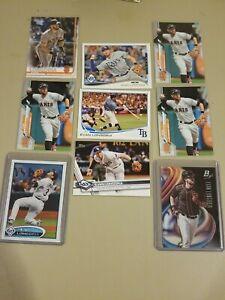 Evan Longoria 9 Card Lot Rays Giants Topps Bowman Platinum Tampa Bay MLB AllStar