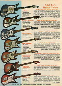 1968 ADVERT 3 PG Electric Guitar Eliter Super Deluxe Supreme 2 Pick Up Hollow