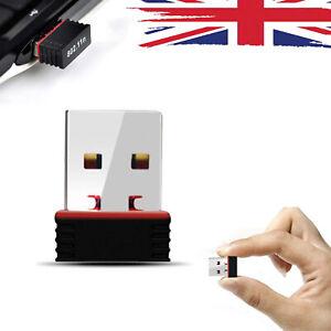 150-Mbps-sans-fil-USB-DONGLE-ADAPTATEUR-WIFI-LAN-802-11n-Dual-Band-2-4GHZ-PC-portable