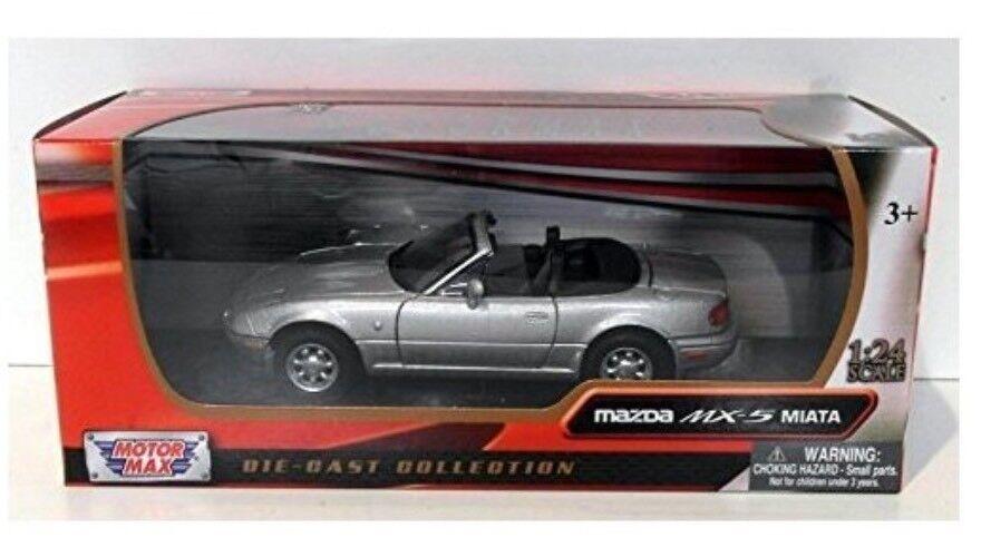1 24 Maßstab Silbern Druckguss V Detaillierte Mazda Mx5 Eunos Cabrio Miata