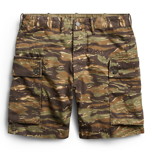 Ralph-Lauren-RRL-Cotton-Military-Camo-Cargo-Shorts-New