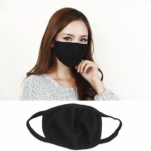 Anti-Dust Black Cotton Mouth Face Mask Respirator  Unisex Mens Womens Cycling  3964871006448