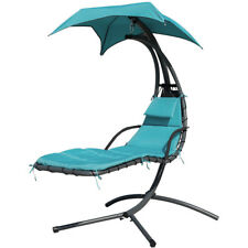 Garden Helicopter Hammock Chair Hanging Swing Sun Lounger Seat Bed W Cushion Uk