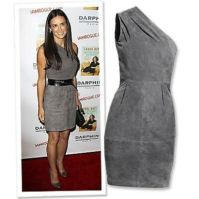 a8cdf647a33 Details about NWT H&M JIMMY CHOO ONE SHOULDER SUEDE DRESS 6 SFS