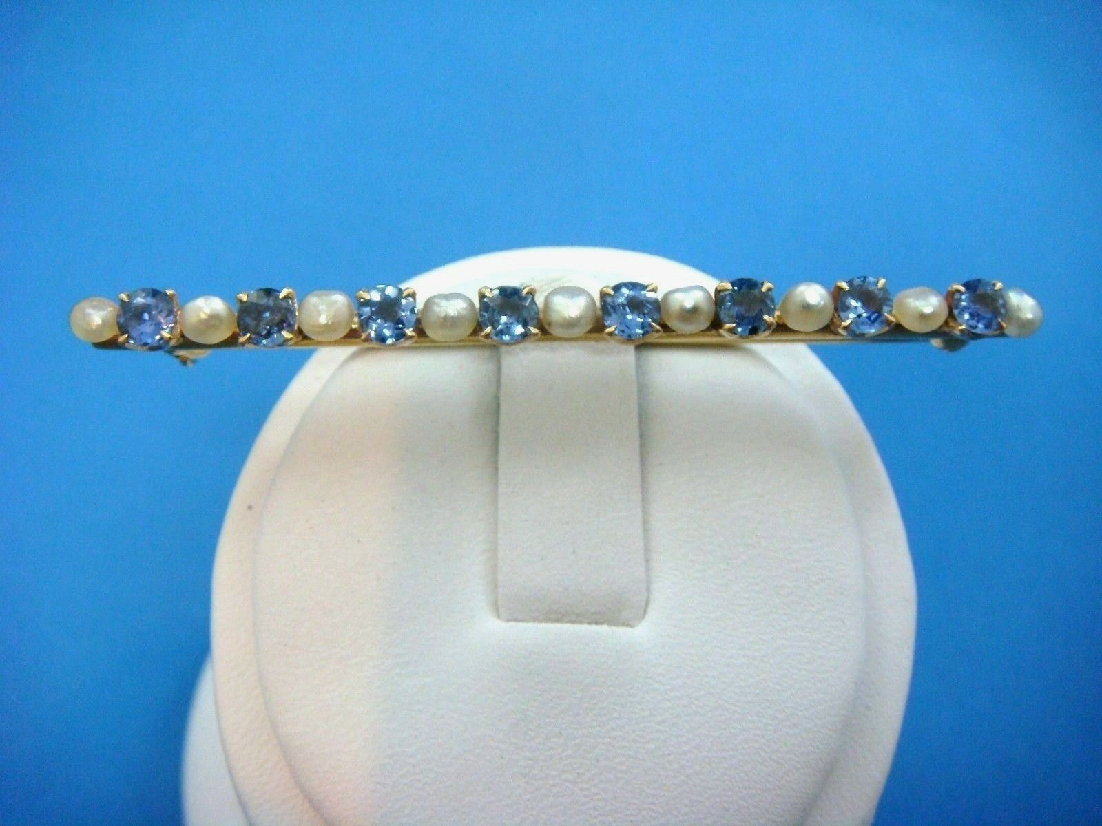 f85e61f20 ANTIQUE SAPPHIRES AND PEARLS BROOCH-BAR
