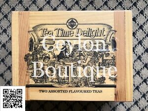 Mlesna Tea Time Delight Two Assorted Flavored Teas In Wooden Box