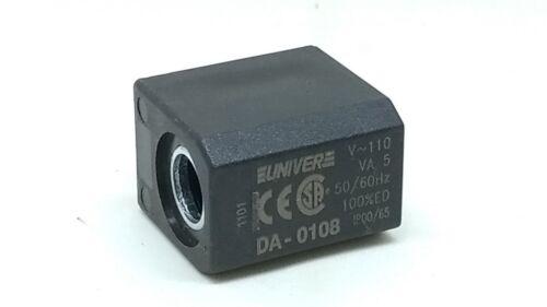 Coil 110V AC Reel Solenoid Rectangular Univer DA-0108 U1 110V AC 50-60HZ