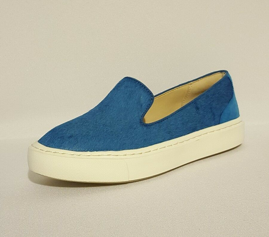 CLARKS COLL ISLAND PUMP COBALT Blau GENUINE LEATHER PUMP ISLAND SKATE Schuhe LOAFER LADIES UK 1d4904