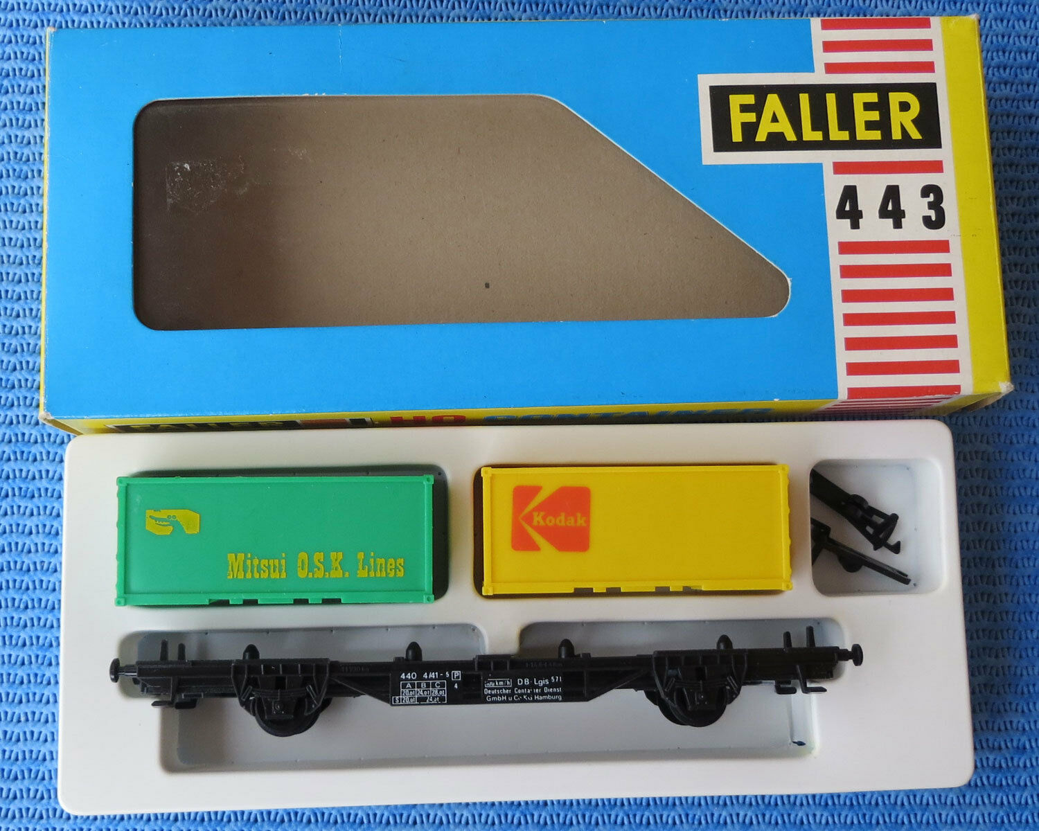 Faller Ams 443 Vagn med container