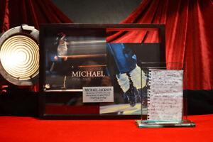 Signed-MICHAEL-JACKSON-Autograph-LETTER-Global-Authentics-COA-UACC-FRAME-DVD