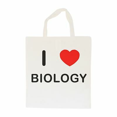 I Love Biology - Cotton Bag   Size choice Tote, Shopper or Sling