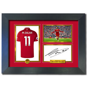 pretty nice 9af63 998a7 Details about Mohamed Salah Liverpool Autograph Signed Photo Birthday  Christmas Gift Print 792