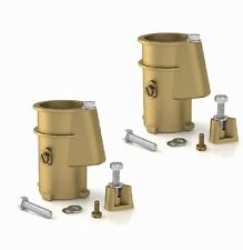 """2-Pack Pool Ladder and Handrail Bronze 4"""" Anchor Socket PS-4019-BC"""