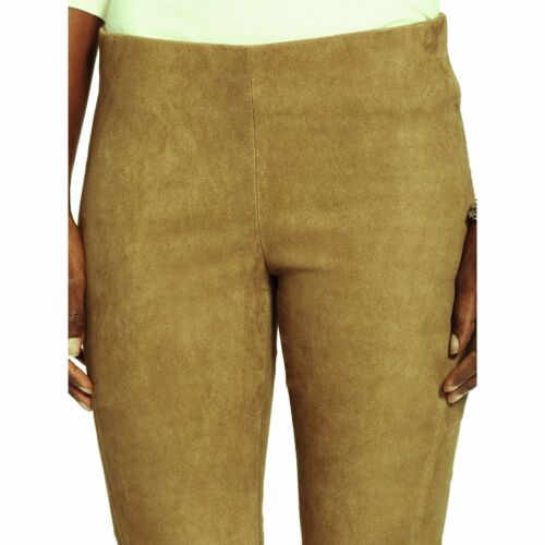Lauren Leather Ralph Leggings Sz Nwt Kvinder 898 Pants Skinny Lamb 2 Suede Tan STU4Iwq