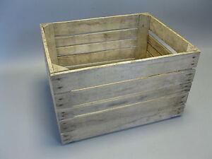 Vecchio cassa per legna cassetta frutta 50 cm x 40 x 30 scatola vino