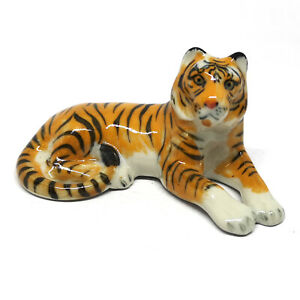 Ceramic-Dollhouse-Bengal-Tiger-Figurines-Collectibles-Miniatures-Wild-Safari