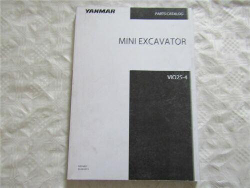 Yanmar ViO25-4 Mini Excavator Parts List Catalog Ersatzteilliste in englisch