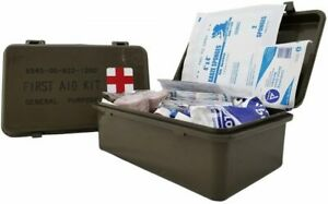 General Purpose First Aid Kit With Military Style Waterproof Case Made in USA